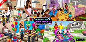 Mother Baby Triplets Family Simulator by Tenlogix Games