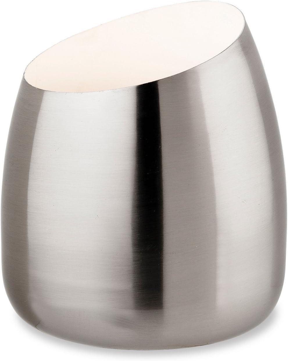 Modern Satin Silver Chrome TableFloor