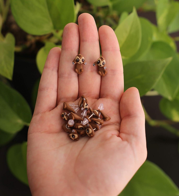Pendientes de Perezoso hecho de arcilla polim/érica Se venden por pares. 100/% Handmade