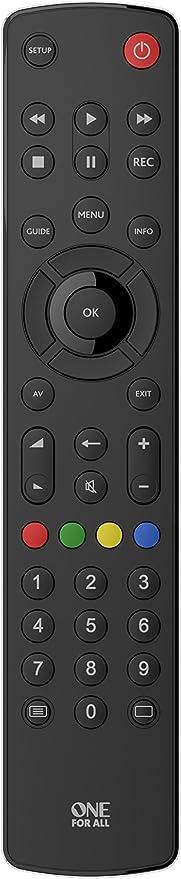 One For All URC1210 - Control Remoto Universal para Todo Tipo de TVs, Negro + Maxell LR03: Amazon.es: Electrónica