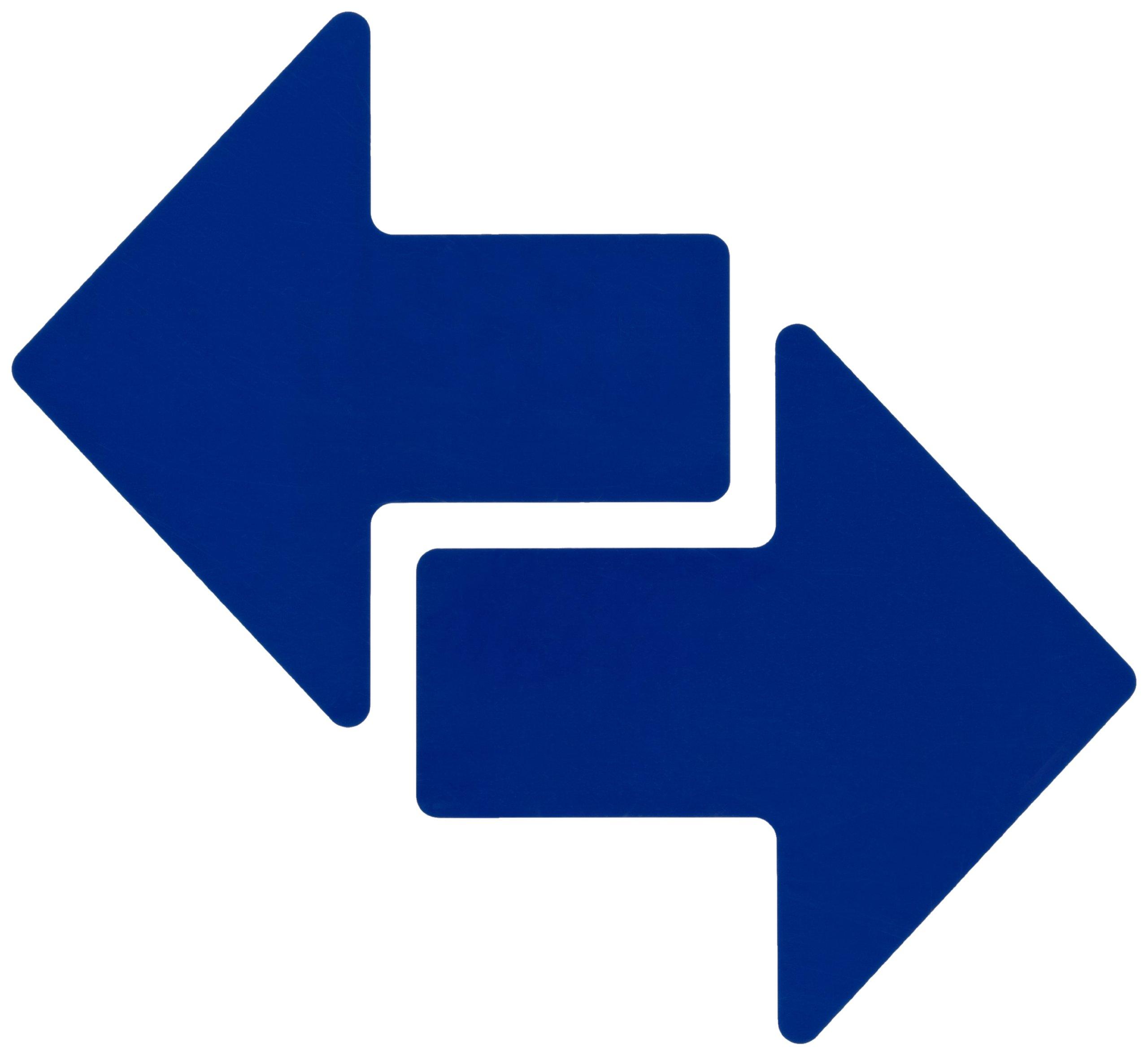 Brady ToughStripe Nonabrasive  Direction Arrows Floor Marking Tape, 8'' Length, 3'' Width, Blue (Pack of 100 per Roll)