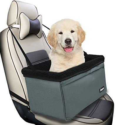 Jespet Dog Booster Seats For Cars Portable Travel Pet Car Seat Carrier With Belt