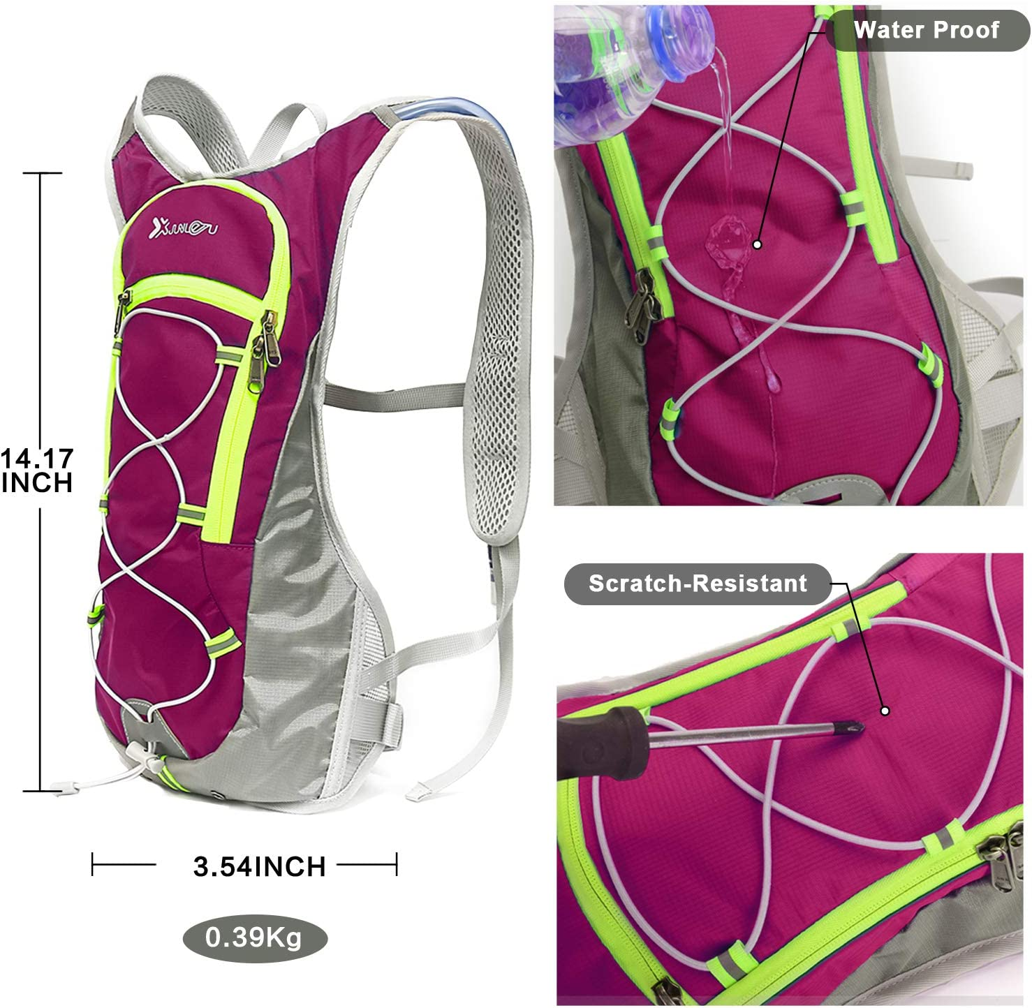 Details about  /Nylon Water Bladder Bag  Hydration Backpack Pack Hiking Camping Cycling Outdoor