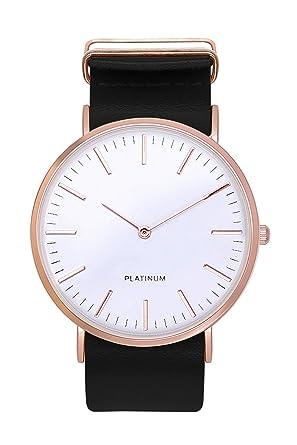 Damenuhren schwarz rosegold  Armbanduhr Trenduhr Farbe Roségold Schwarz Rotgold Rosé Gold ...