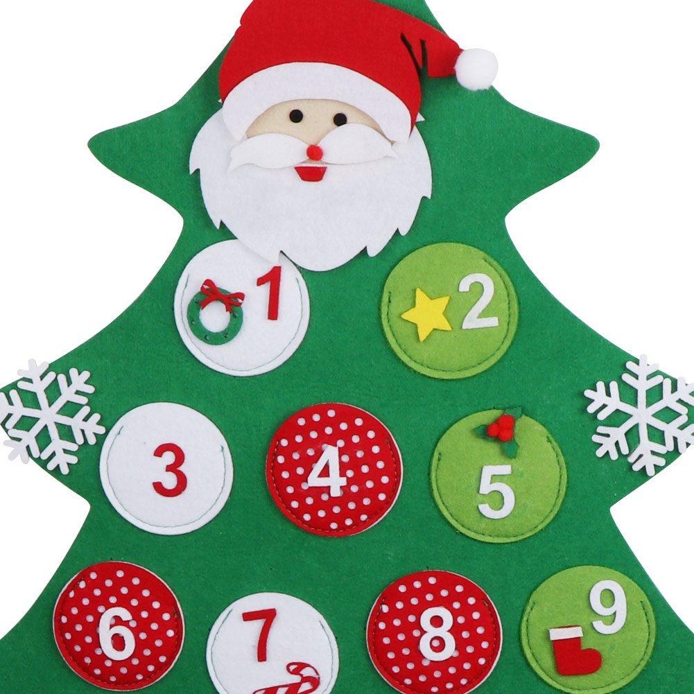 Aytai Chirstmas Tree Advent Calendar Felt Countdown to Christmas ...