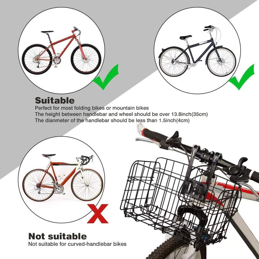 Cesta plegable para bicicleta parte delantera y trasera Blentude
