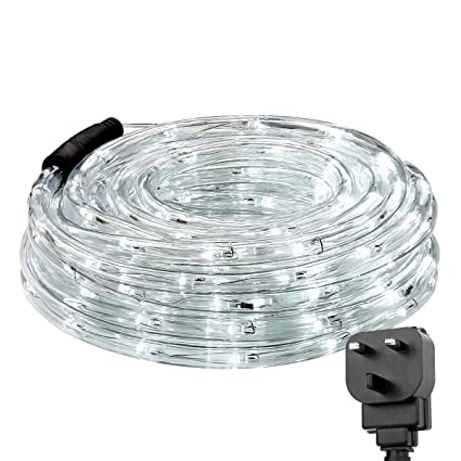 best service b9ef5 39167 LE 10m 240 LED Rope Lights, Extendable, 24V Low Voltage, Plug in Indoor  Outdoor String Lights, Daylight White, IP65 Waterproof for Garden, Patio,  ...