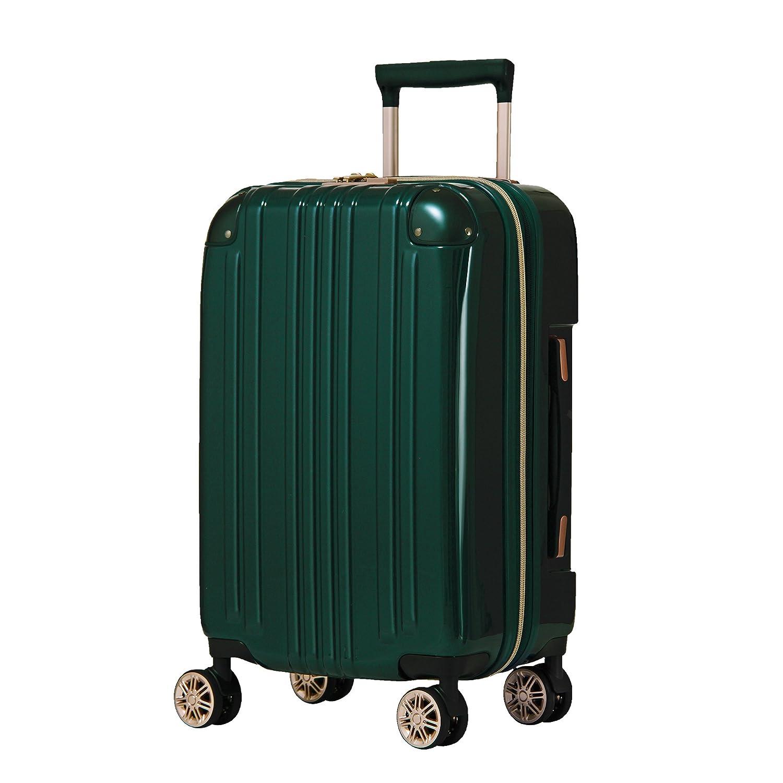 【レジェンドウォーカー】LEGEND WALKER スーツケース アルミフレーム 鏡面ボディ TSAロック 軽量 機内持込~大型 5122 B0798DKD4Z Mサイズ(フレーム)|グリーン グリーン Mサイズ(フレーム)