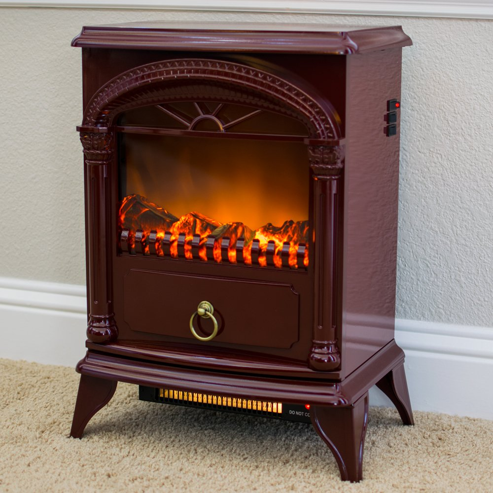 amazon com hamilton portable free standing electric fireplace