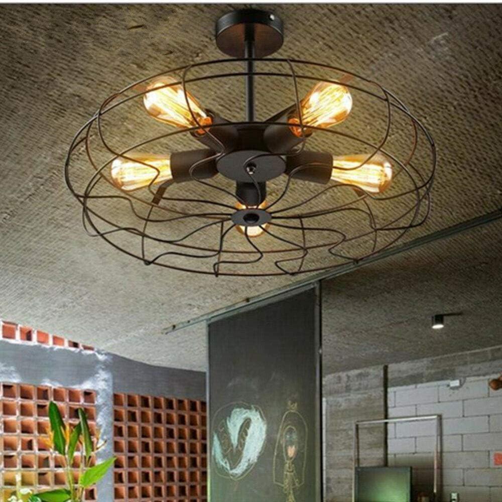 Luminaire de plafond de ventilateur Lustre Suspension Luminaire R/étro industrie fer ventilateur pendentif lampe pendentif lumi/ère plafond lustre lumi/ère