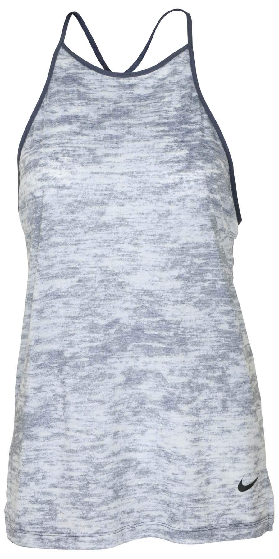 Nike Women's Breathe Loose Tank Top-Thunder Blue Heather-XS