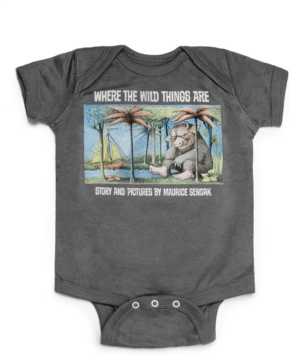 Out of Print Infant Where The Wild Things are Bodysuit 18 Month Charcoal: Clothing