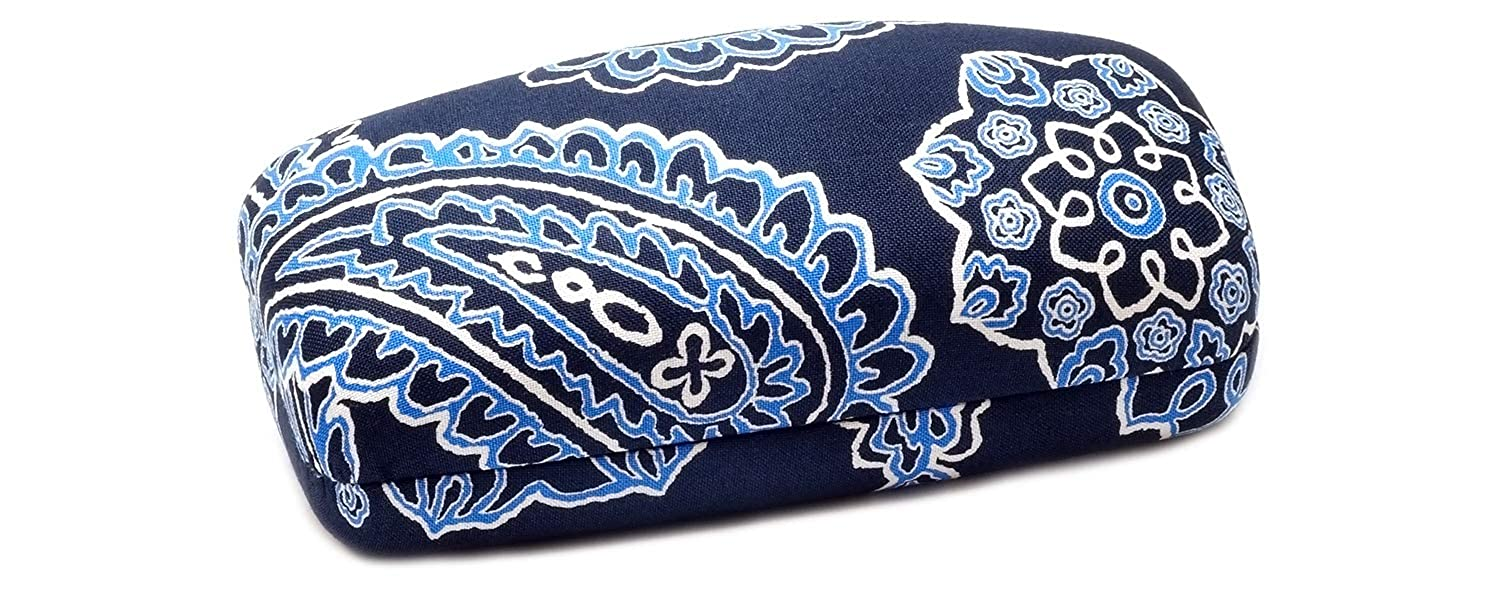 Vera Bradley Authentic Blue Bandana Clam Shell Sunglass Case