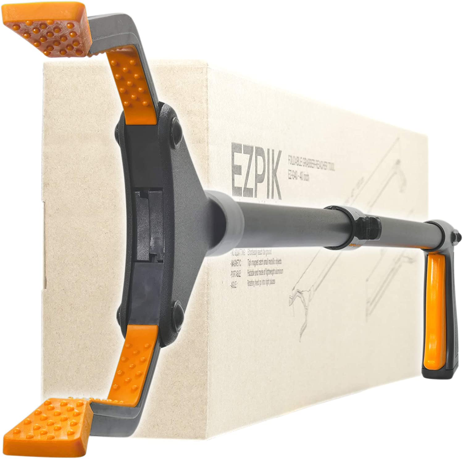 "EZPIK 40"" Extra-Long Grabber-Reacher Tool, Foldable Reaching Aid for Elderly, Heavy-Duty Handheld Pickup-Stick & Trash Picker-Upper (v2.0)"