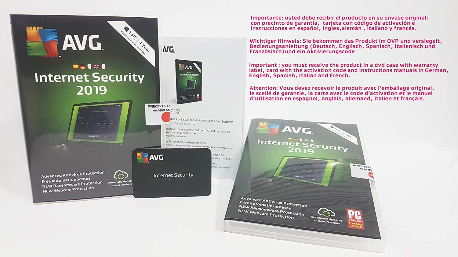 AVG Internet Security 2019 | 1 PC | 1 Year
