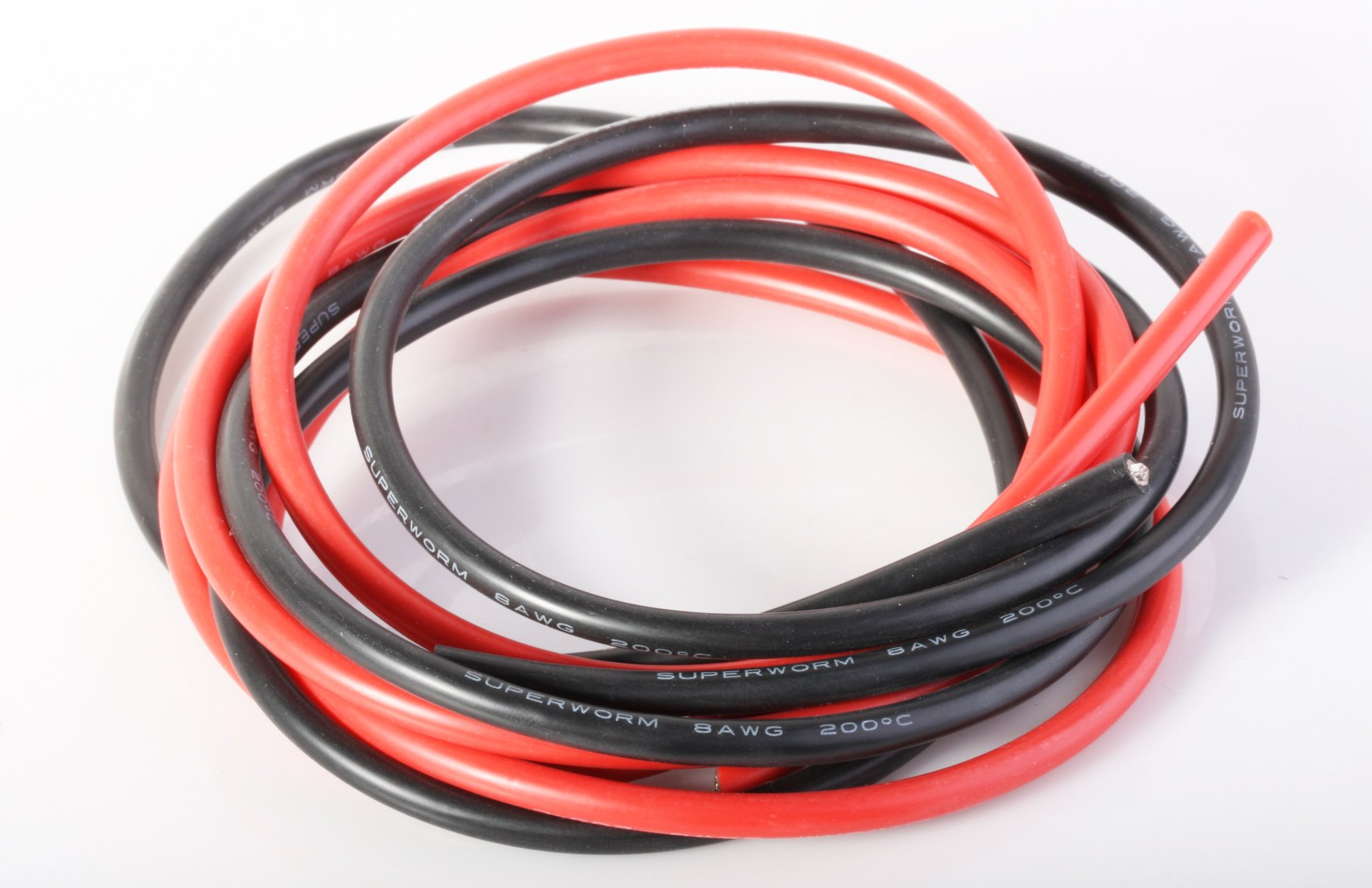 Superworm 8 Gauge Silicone Copper Wire Super Flexible by ACER Racing 1680 Strands
