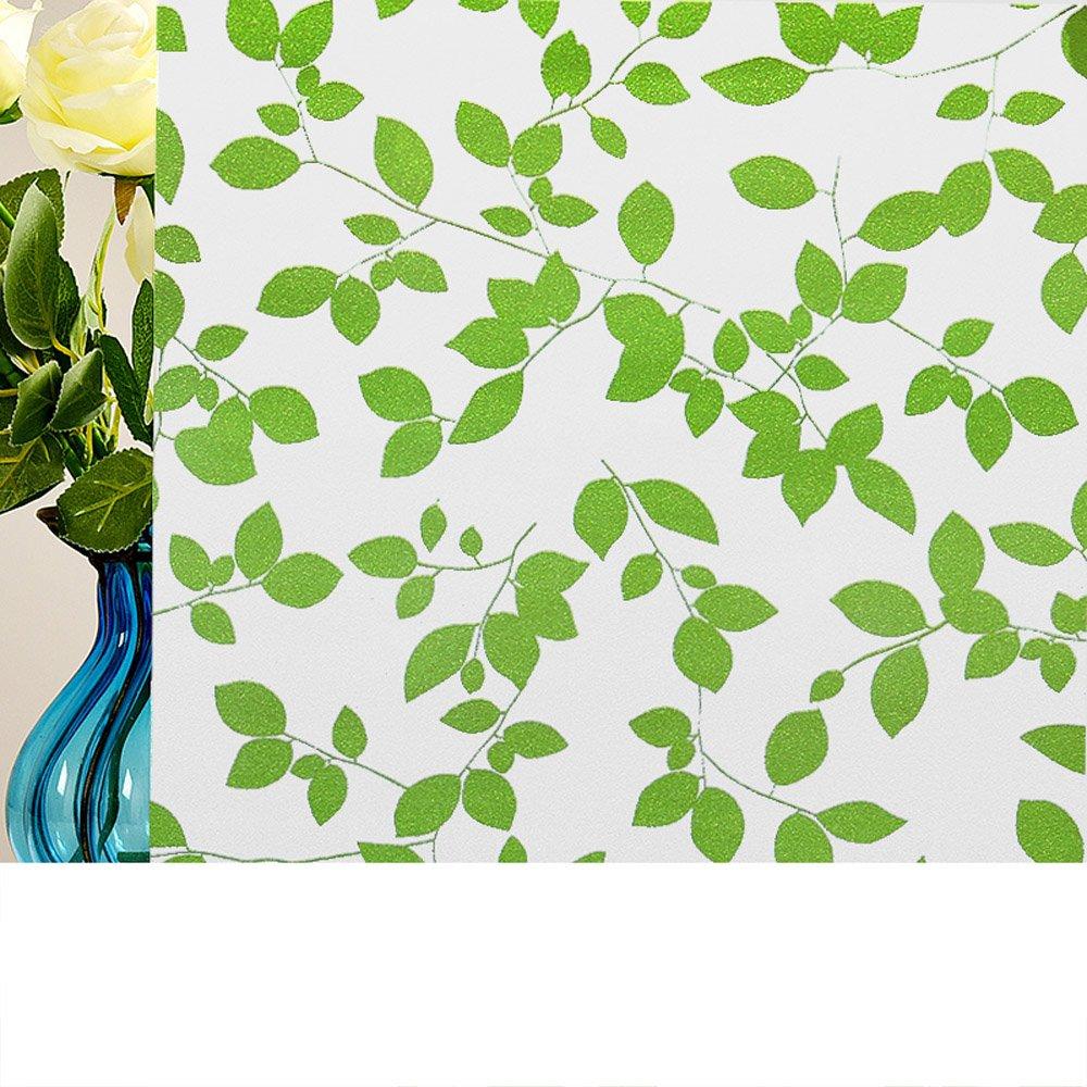 YETUGE 静電窓ガラスフィルム ステンドグラスシート おしゃれな窓ガラスフィルム シール 目隠し ステンドグラス風 トレリス UVカット 北欧 B07DPM5MY3 90*3000CM|32 32 90*3000CM