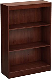 South Shore Axess Collection 3 Shelf Bookcase, Royal Cherry
