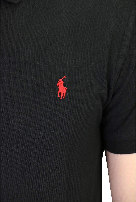 Ralph Lauren MOD 710795080 Polo piqu/é Slim Fit Uomo Blu