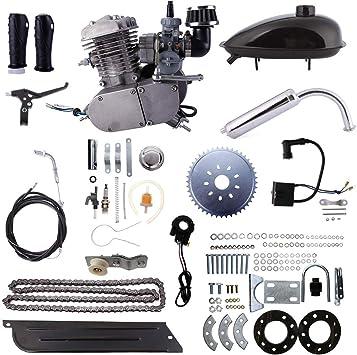 Kinbelle 80cc 2 Stroke Engine Motor Kit Motorized Bicycle Bike Fuel Gas Powered DIY Motorized Bike