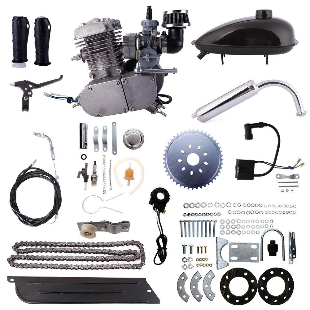 Niome 80cc 2ストローク 自転車ガソリンエンジン 空気冷却モーターキット 電動自転車プッシュバイク用 New upgraded