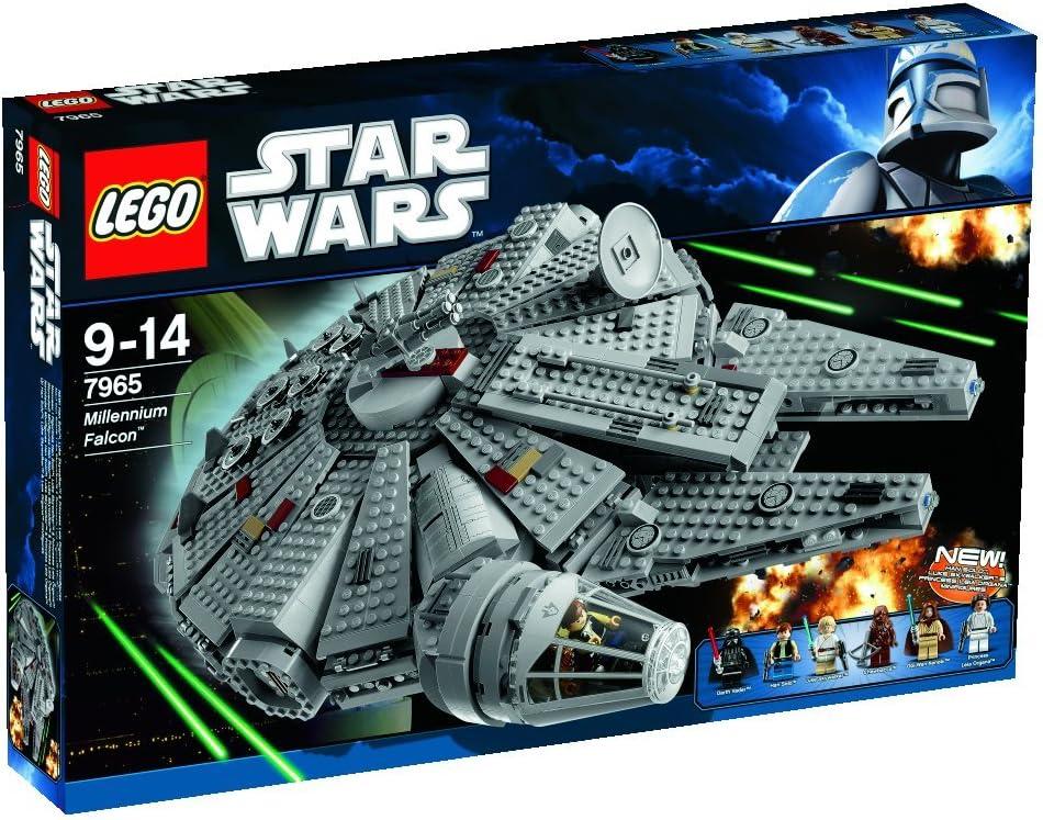 Amazon Com Lego Star Wars Millennium Falcon W Darth Vader Luke Skywalker Han Solo 7965 Toys Games