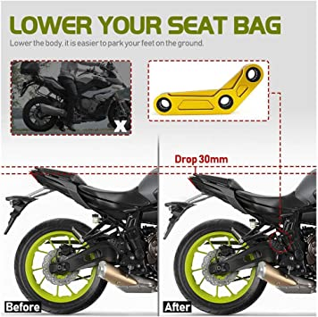 Fatexpress Mt07 Fz07 Xsr700 Motocicleta 1 181 In Bajar Link Drop Kit Cnc Aluminio Para Yamaha Mt Fz 07 Mt 07 Fz 07 Xsr 700 Accesorios Piezas 2014 2015 2016 2017 2018 2019 2020 Rojo Automotive