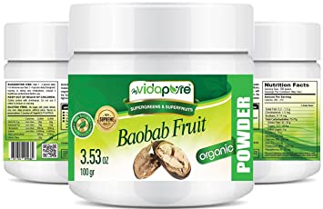 myVidaPure Organic Baobab Fruit Powder RAW Pure SUPERFOOD Suplemento dietético para la cocción de la salud