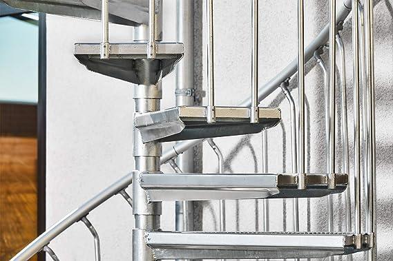 Scalant Scarvo M 180, escalera exterior, escalera de caracol para exteriores, diámetro de 180 cm: Amazon.es: Bricolaje y herramientas
