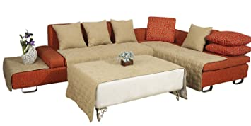 Amazon Com Octorose Bonded Micro Suede Quilted Sectional Sofa Throw