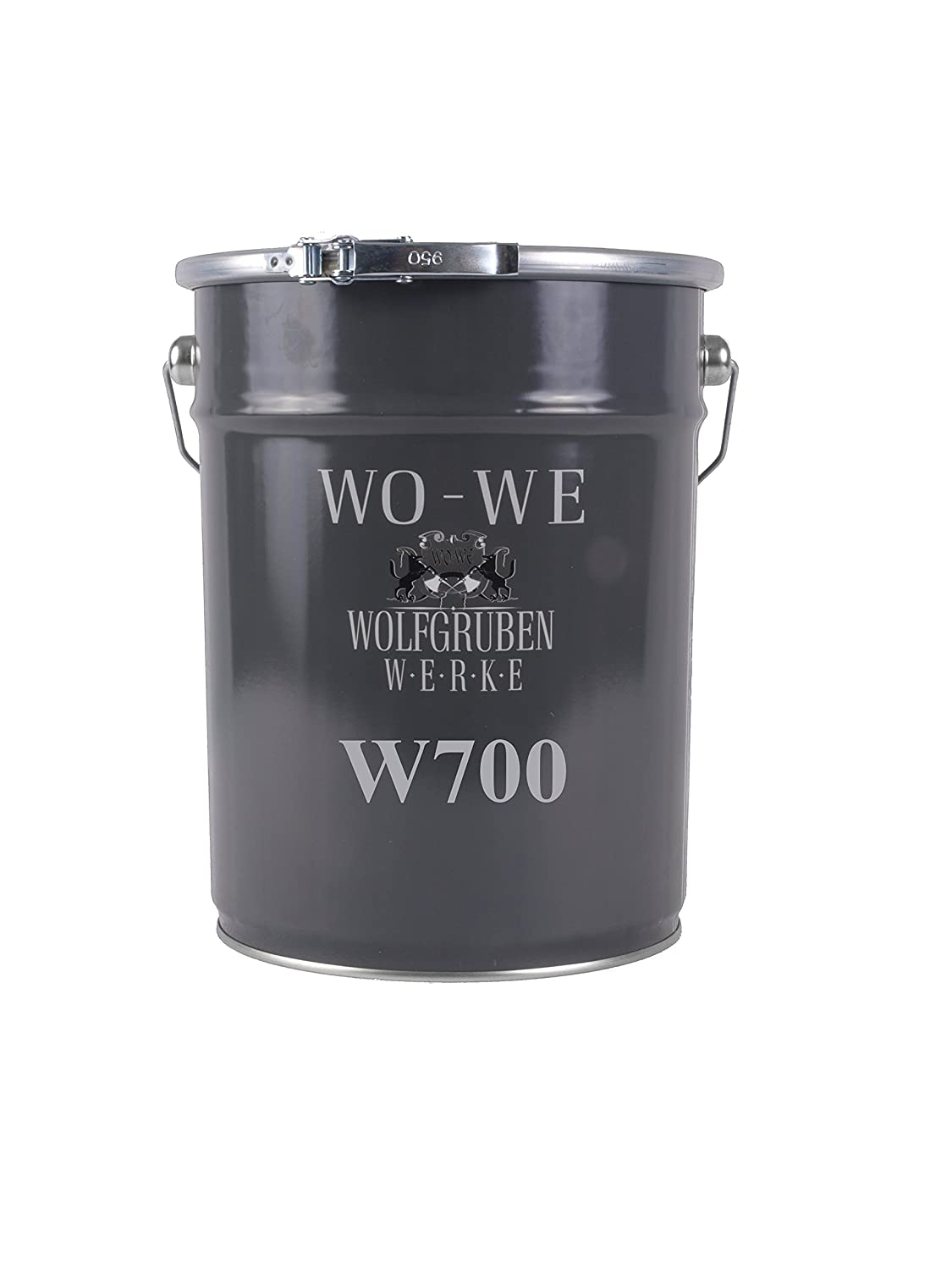 Floor Paint/Coating Type: WO-WE W700 for Concrete, Screed, Wood, Metal/Extremely Durable/Resistant to Oil and Gasoline/for Interior and Exterior Use/Anthracite-Grey Like RAL 7016-10 Liter WOLFGRUBEN WERKE (WO-WE)