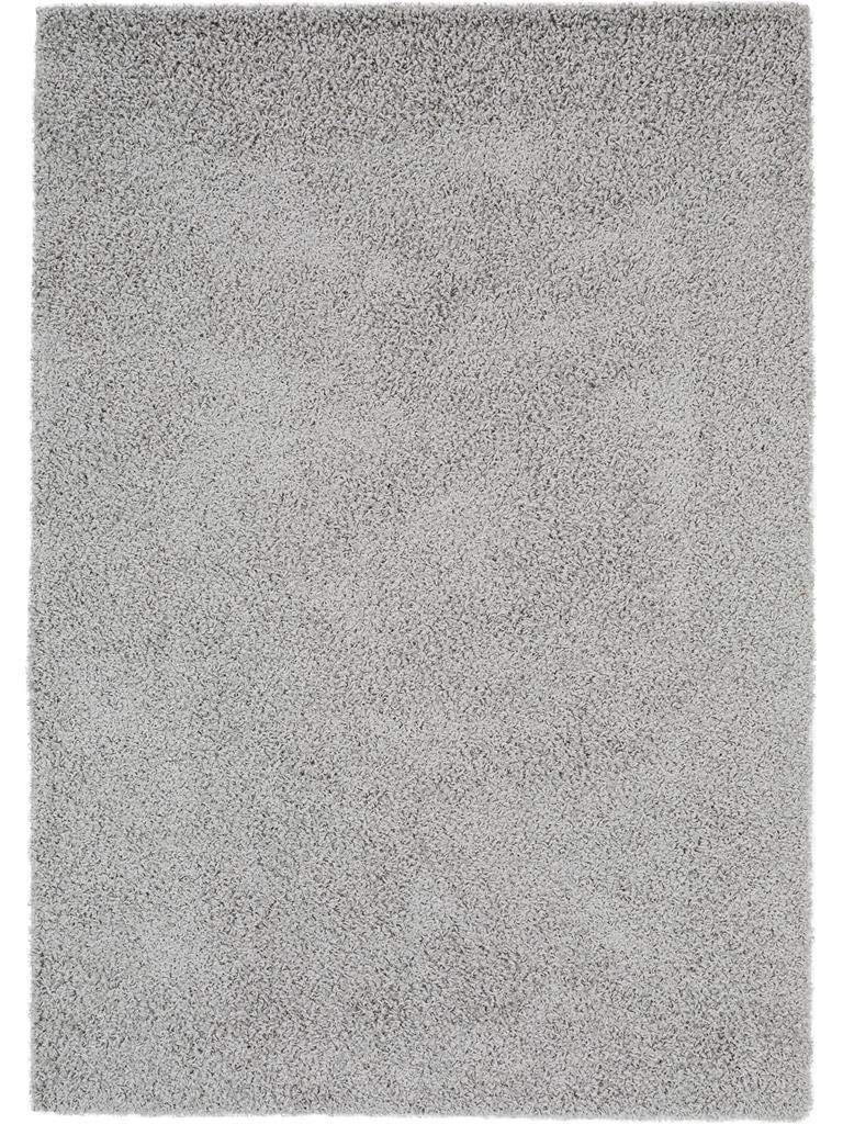 Benuta Hochflorteppich Swirls Shaggy Langflor Grau 160x230 cm Kunstfaser schadstofffrei