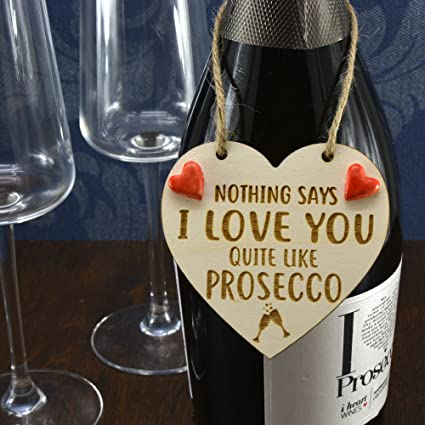 Picnmix Ceramics nada dice I Love You muy como Prosecco