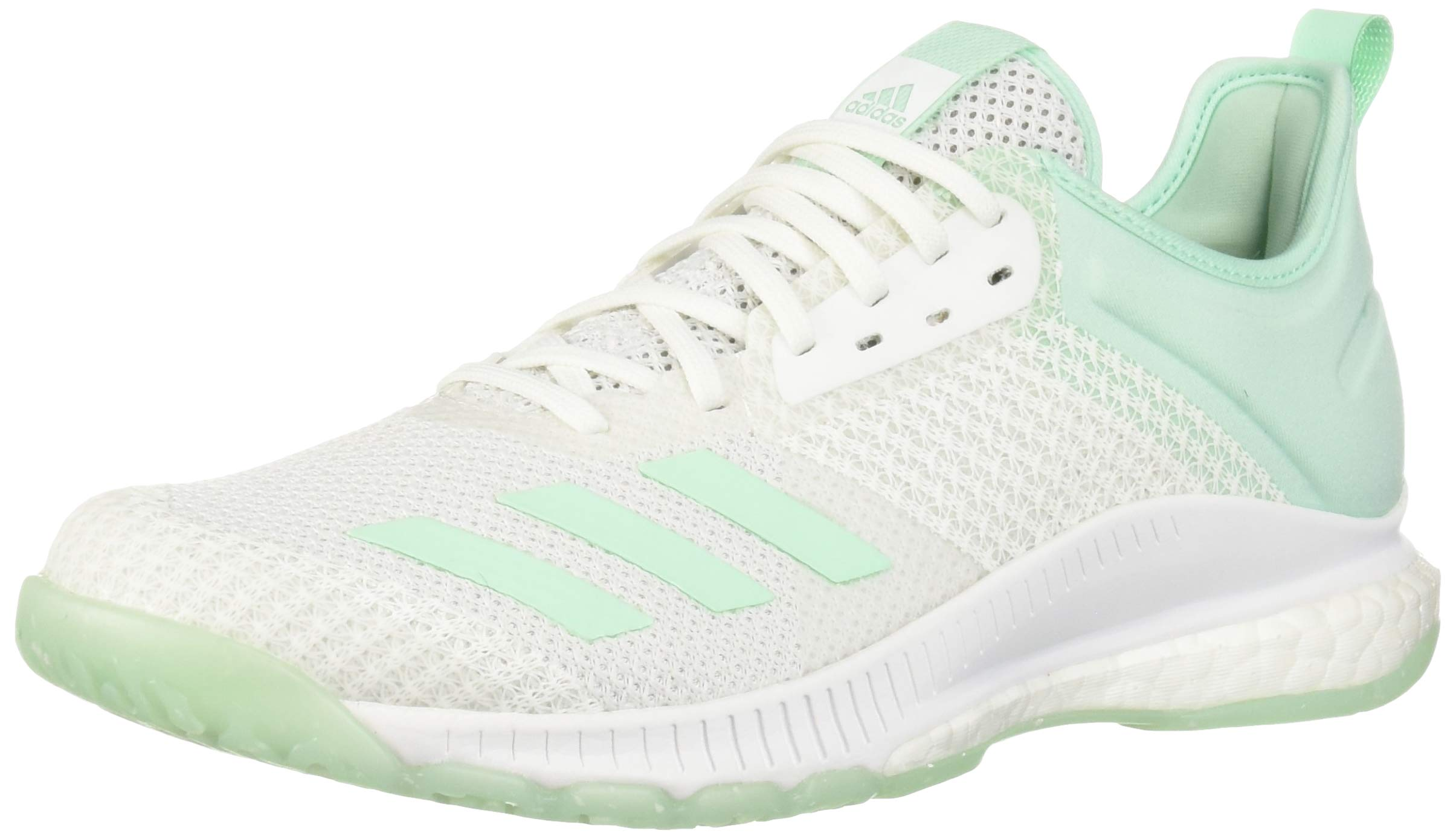 adidas Women's Crazyflight X 3 Parley Shoes, White Clear Mint, 9 M US