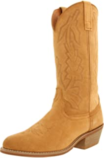 Amazon.com | Old West Men's Roughout Suede Cowboy Boot | Western