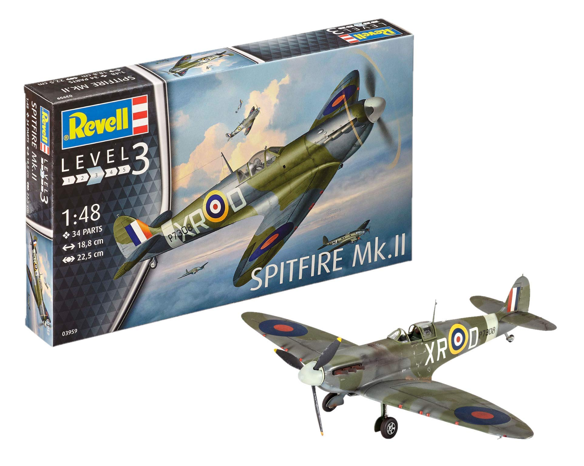 Revell Spitfire Mk.II Model Kit, 1: 48 Scale