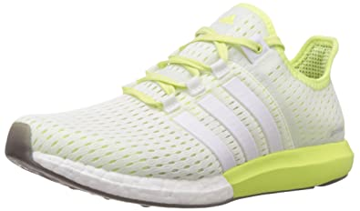new product d854b 4833b adidas Women s s Climachill Gazelle Boost Running Shoes, Weiß FTWR  White Light Flash Yellow S15
