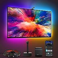 Govee Iluminación LED WiFi TV con cámara, Smart RGBIC para TV de 55 a 65 pulgadas PC, funciona con Alexa y Google…