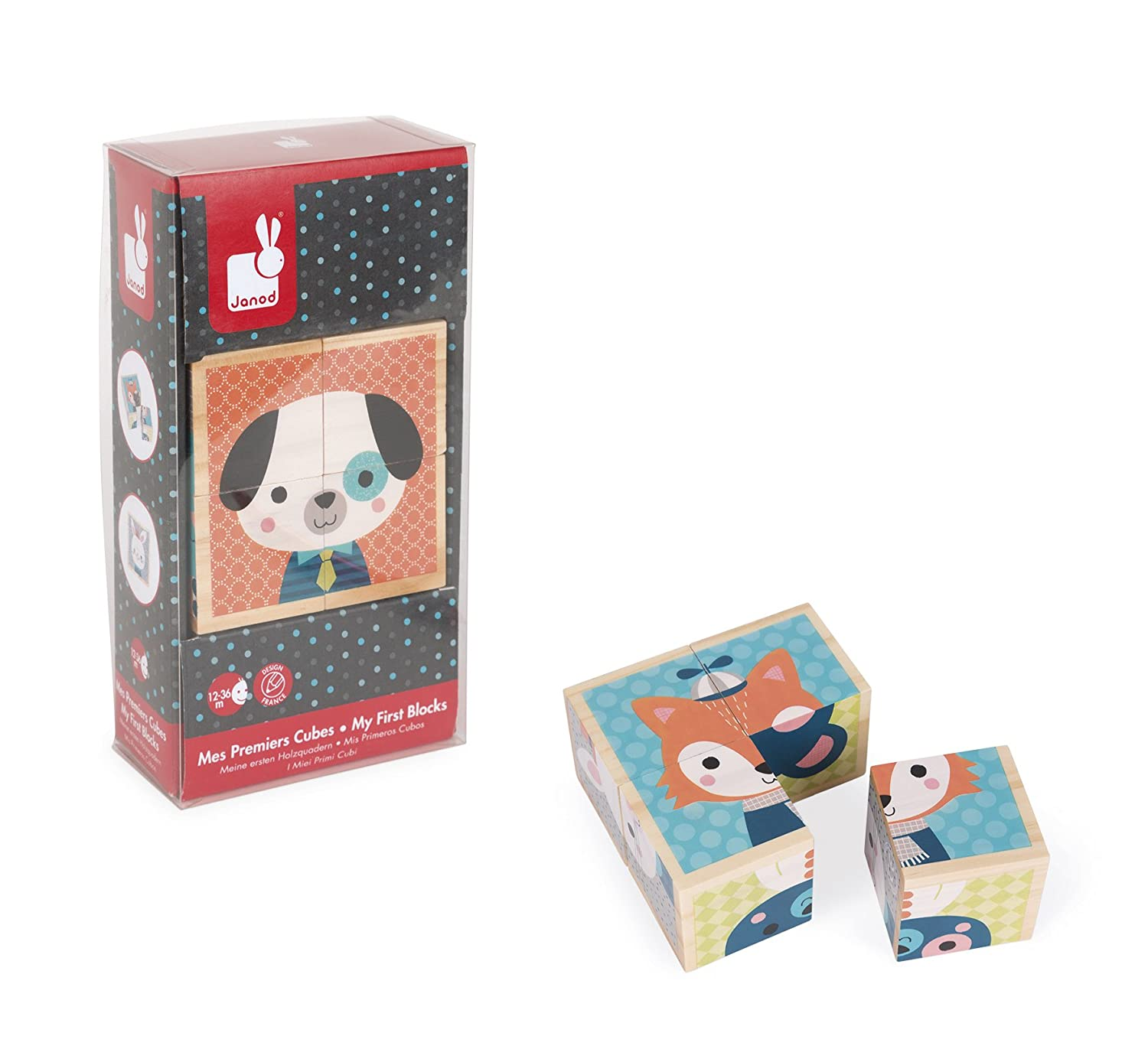 Janod My First Blocks Forest Portraits Baby Toy