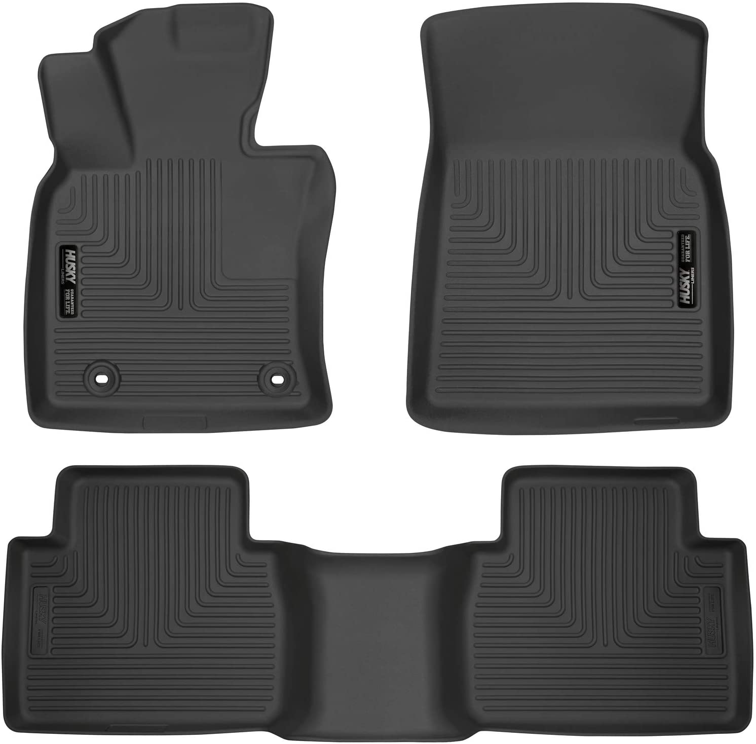 Front /& Rear JSCARLIFE Camry Car Floor Mat 2012-2017 Camry Driver /& Passenger Seat Ridged Floor Mats All Weather PU Floor Protection Mat