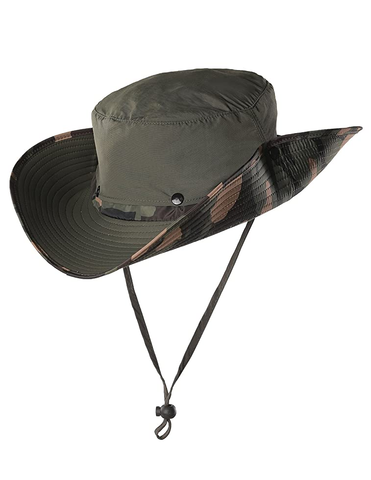1b13adc10623d Waterproof Outdoor Wide Brim Sun Hat by Feeker Fishing Hunting Hiking Sun  Boonie Hat for Men
