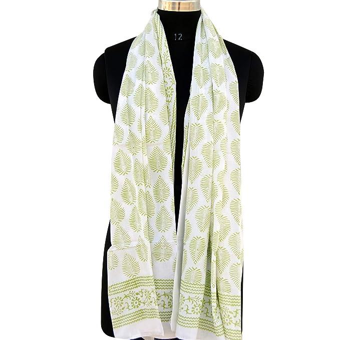 f70edf593e5 Amazon.com: Soft cotton Block Printed Scarves Women Fashion Scarf ...