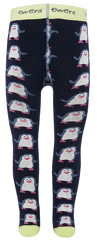 Ewers THERMO Baby- und Kinderstrumpfhose fü r Jungen und Mä dchen Pinguine, Made in Europe, Innenfrottee Plü sch Strumpfhose Baumwolle 95564-1139