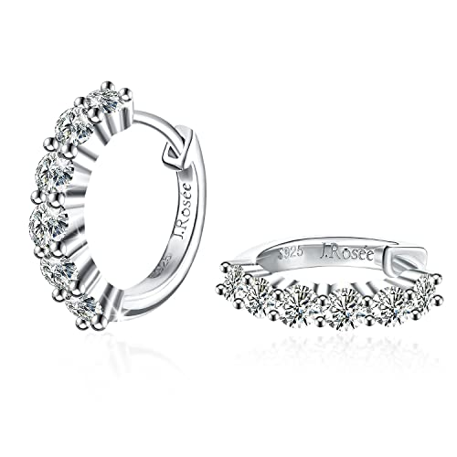 Silver Earrings, J.Rosée Jewellery 925 Sterling Silver 5A Cubic Zirconia