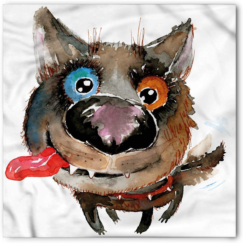 Ambesonne Animal Hairscarf Funny Dog Puppy Head Wrap