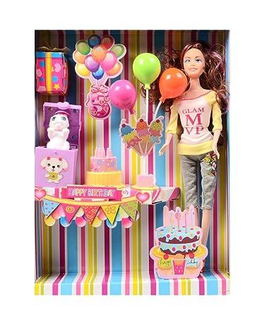 Deep Fashion Doll Celebrating Birthday Decoration Kit