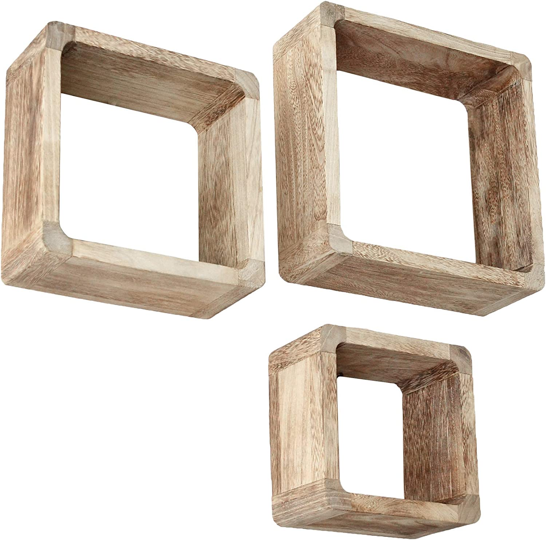 3er Set Lounge Cube Regal Landhaus Stil Wandregal Hangeregal