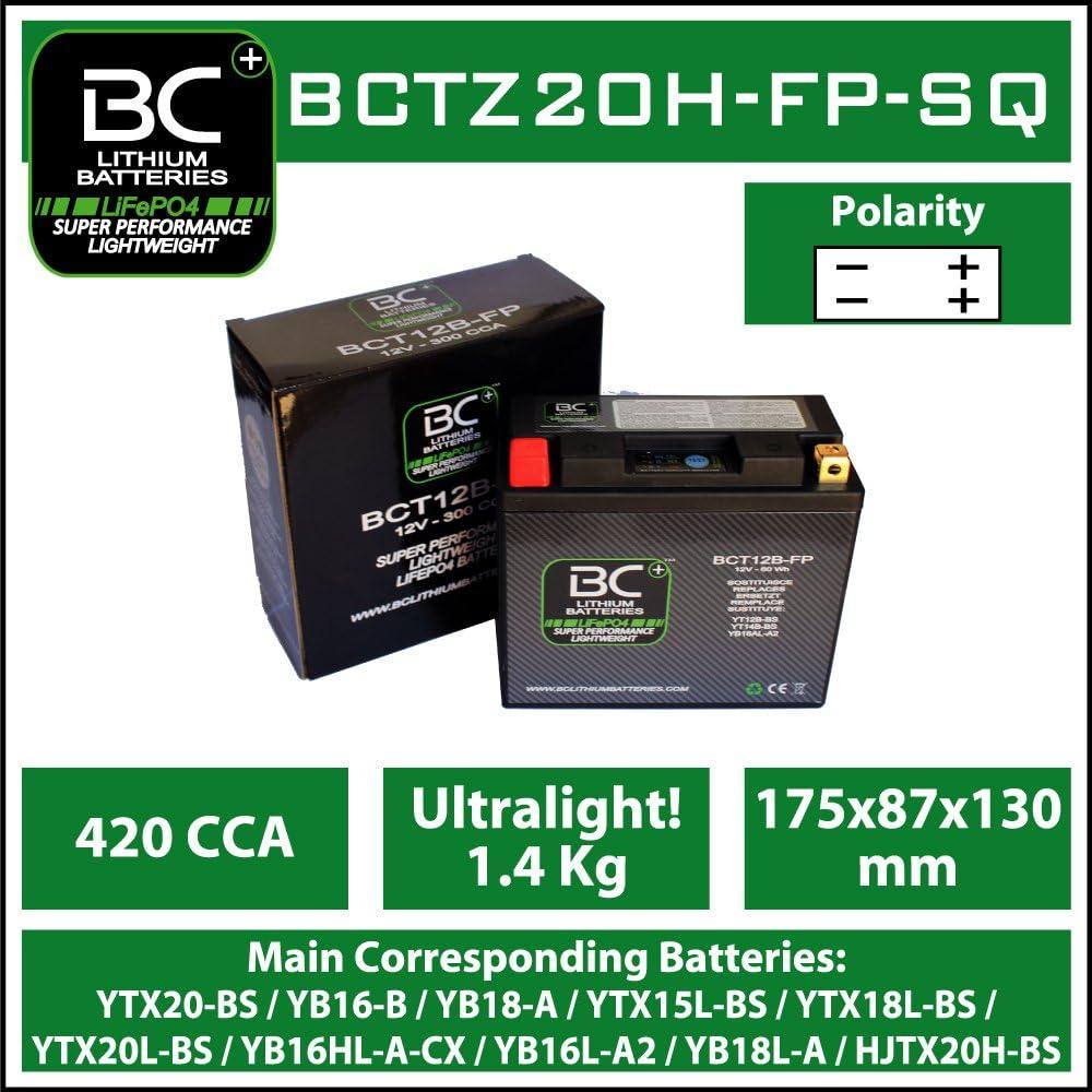 BC Lithium BatteriesBCTX30-FP-WIQ Batterie au Lithium pour Moto LiFePO4 HJTX30-FP YIX30L-BS