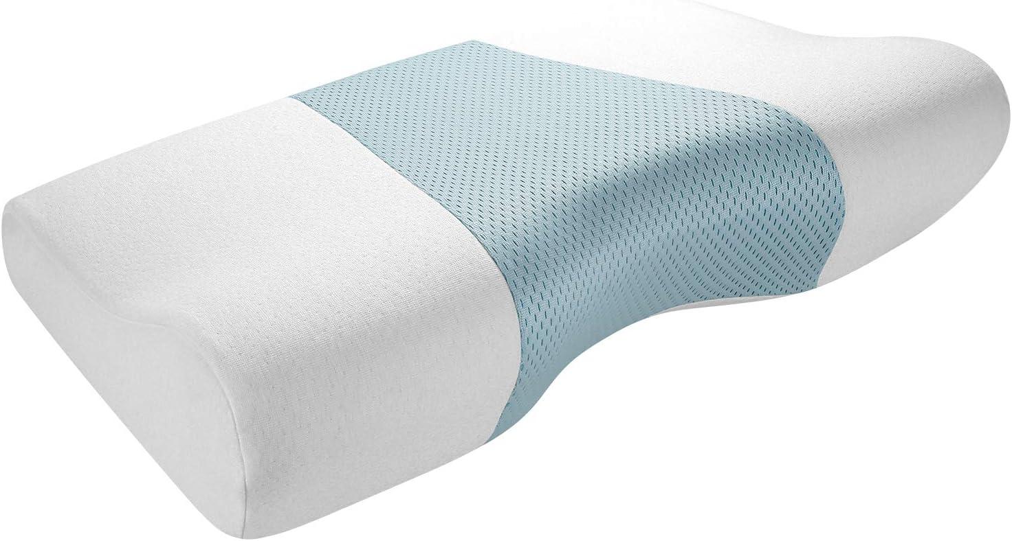 Reuvv Nackenkissen aus Memory-Schaum multifunktional 6-in-1 Hand- und Nackenschutz zur Schmerzlinderung langsamer R/ückpralldruckkissen