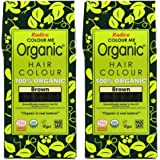 Radico brun 2-pack Colour Me Organic växthårfärg (bio, vegan, naturkosmetik) brun x 2